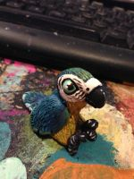 Baby Macaw Sculpture by omfgitsbutter
