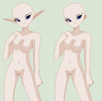 Cute Elf Girl Base by TFAfangirl14