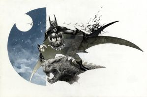 BATMAN commission Lucca 2011 TWO by simonebianchi