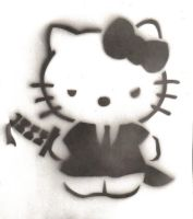 Stencil : hello kitty yakuza by quietzs