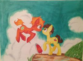 Ponyo/MLP Crossover by Shyamette