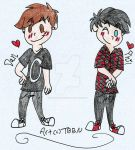 Dan And Phil Chibis by TheBestBadNewz