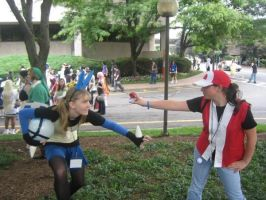 Lucario and Trainer Cosplay by Itsu-The-Raccoon