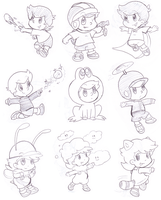 some power ups by Nintendrawer