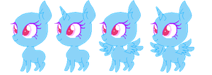 F2U Chibi Pony base #2 by ClockupFlowers