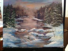 Painting For Xmas by Carl-McIntyre