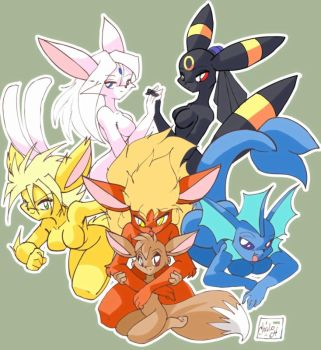 Evee Girls Part Deux by ChaloDillo