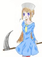Girl with a scyth Colored by teddy529