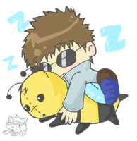 .:Shino and his Bee:. by Numbuh-9