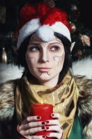 Christmas Merrill - Dragon Age II cosplay by LuckyStrike-cosplay