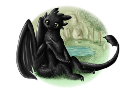 Toothless by Kiweeroo