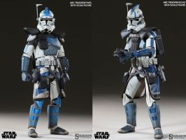 fives echo arc troopers  side show toy by thatguy4802