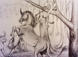 Lions and Unicorn by brunonade