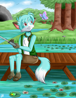 :Another Fishing Day: by Sweetochii