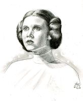 leia sketch by bamboleo