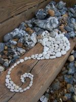 Chalk Pebble spiral by Dishtwiner