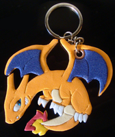 Charizard Handmade Keychain - Better photo by SoftMonKeychains
