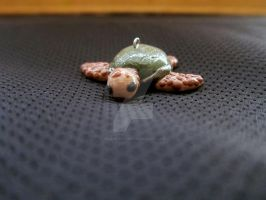 Sea Turtle Polymer Clay Charm Pendant by ValkyrieOfODIN