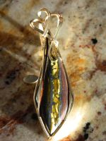 Tiger iron in gold by DPBJewelry