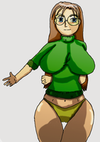 Old Ecchi sketch colored alt by fighterxaos