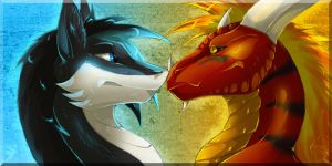 Icon Comish - Irinae and Arthegon by TwilightSaint
