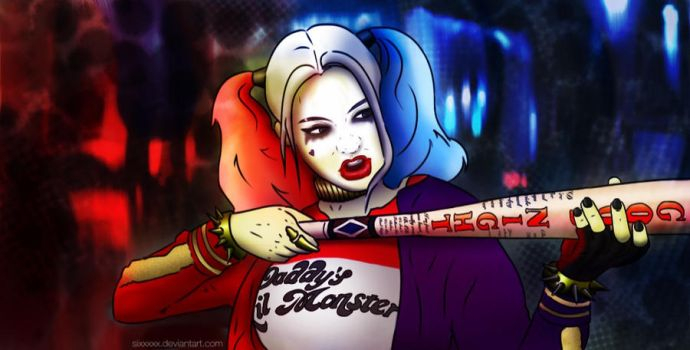 Harley Quinn: Clever as the devil, twice as pretty by Sixxxxx