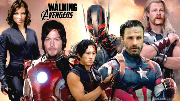 The Walking Avengers by otettttt