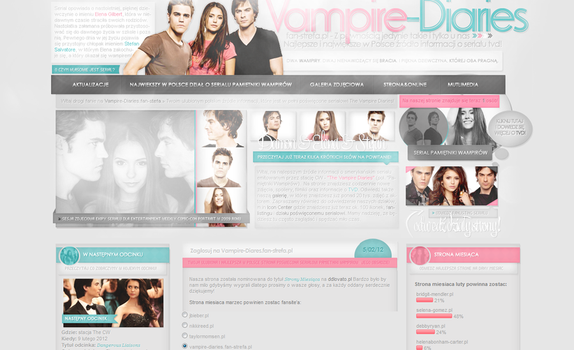 Vampire Diaries layout by sweetkowa