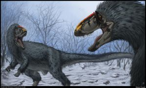 Yutyrannus huali by rob-powell
