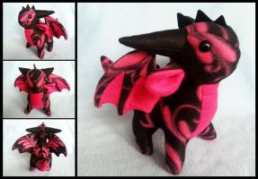 Hot Pink Filigree Dragon by DragonsAndBeasties