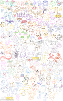 All 151 Original Pokemon by BoneCheese