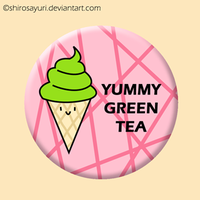 Green Tea IceCream Badge by Shirosayuri