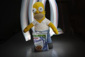 Homer Simpson and Fitness by suescungaray