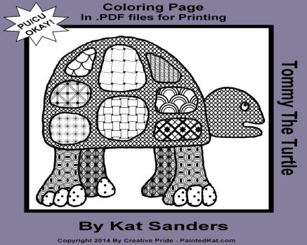 Tommy the Turtle 0001 Zentangle Inspired Art Color by Zaubrer