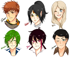 Link Me Your OCs ( Headshots ) - Part 2 by Hourglass34