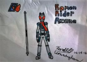 Fan made: Kamen Rider Arcana by Dell-AD-productions