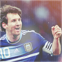 Argentina Messi by w6n3oshaq