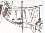 Metro - Pen Drawing by King-Hauken