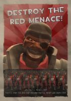Destroy the Red Menace by twigsby