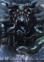 Tentacled Leviathan by JACThRipper