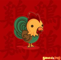 Chinese Zodiac: Rooster by SquidPig