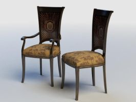 Classic Wooden Chair 1 by raaab