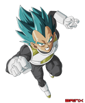 SSGSSJ Vegeta Vector by Brinx-dragonball