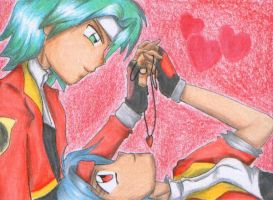 Ranger in Love :ACEO: by JunAkera
