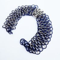 TARDIS Dragonscale Weave Chainmail Bracelet by FaerieForgeDesign