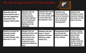 Top 10 Worst Kinds of Episodes by KessieLou