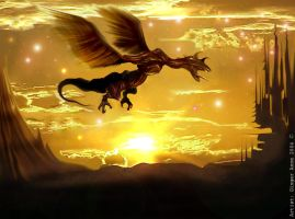 Flying Dragon Sunset by GingerAnne