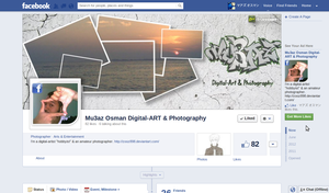 My facebook page's timeline-cover by zooz898