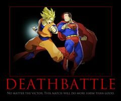 Deathbattle Superman vs Goku by TopcowImage2dF