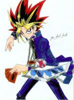Yugi Muto (Atem) Full Color by davidlatorre